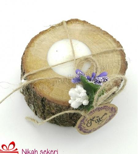 Ağaç Mumluk Nikah Şekeri