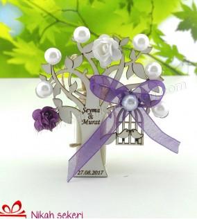 Ahşap Lazer Kesimli İncili Ağaç