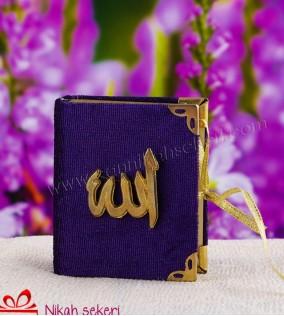 Allah Yazılı Mavi Kitap Kutu
