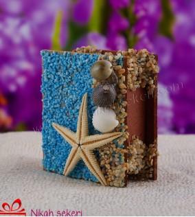 Deniz Yıldızlı Ahşap Kutu