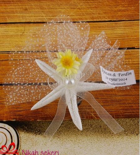 Beyaz Deniz Yıldızı Nikah Şekeri DY2