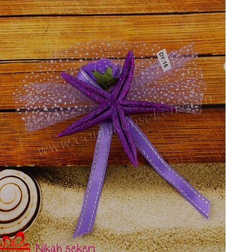 Mor Deniz Yıldızı Nikah Şekeri DY15