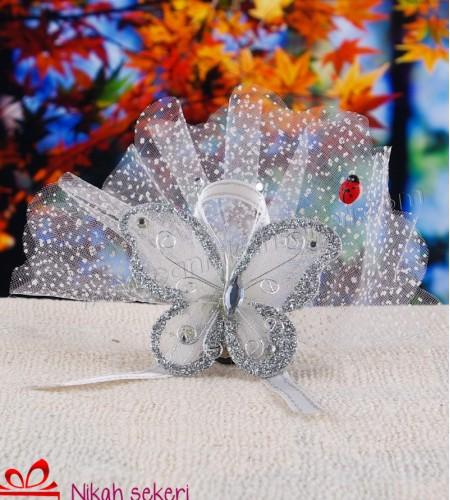 Gümüş Kelebek Nikah Şekeri KL10
