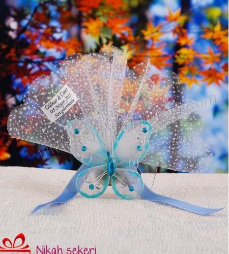 Mavi Kelebek Nikah Şekeri KL3