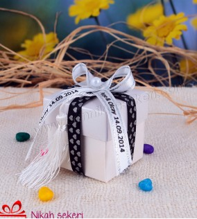 Beyaz Kutu Nikah Şekeri KT6