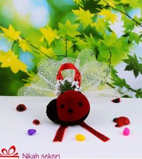 Kadife Uğur Böceği Nikah Şekeri