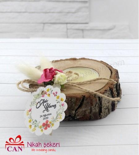 Ağaç Mumluk Nikah Şekeri AH156
