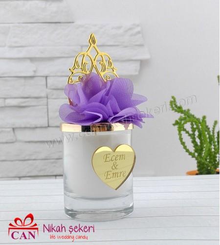 Altın Kubbeli Mum Nikah Şekeri