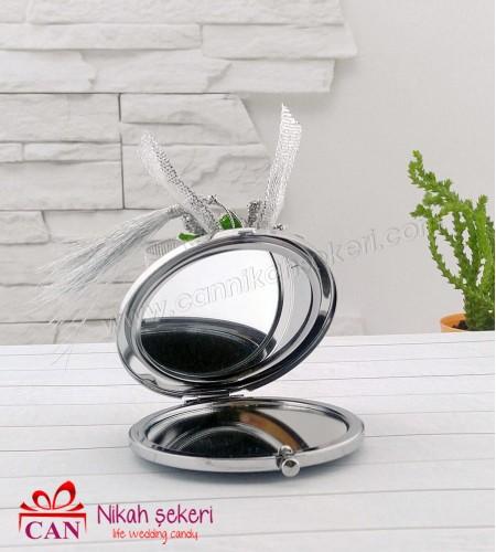 Gümüş Kapaklı Ayna Nikah Şekeri