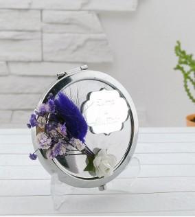 Gümüş Kapaklı Metal Ayna Nikah Şekeri