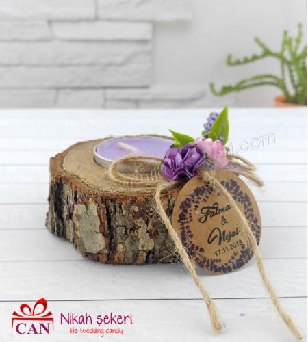 Ağaç Mumluk Nikah Şekeri AH169