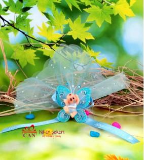 Mavi Kelebekli Bebek