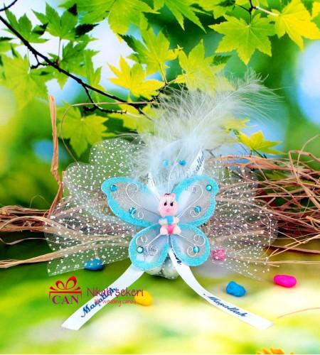 Kelebekli Bebek Biblolu Şeker