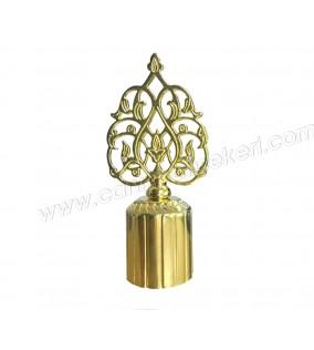 Şişe Kapağı Metal Osmanlı Motifli 2,5cm Altın 10'lu