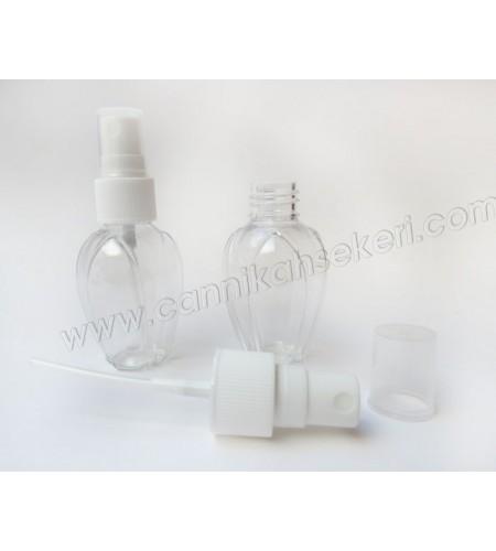 Şişe Parfüm Şişesi Lale Görünümlü Plastik