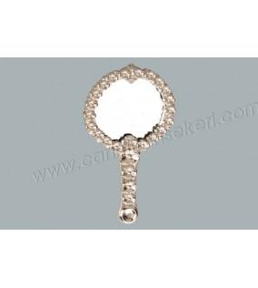 Ayna Çiçekli Metal Gümüş