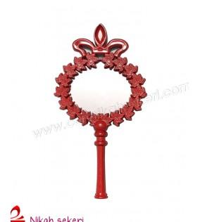 Ayna Çiçekli Plastik Kırmızı