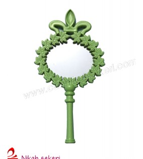 Ayna Çiçekli Plastik Yeşil