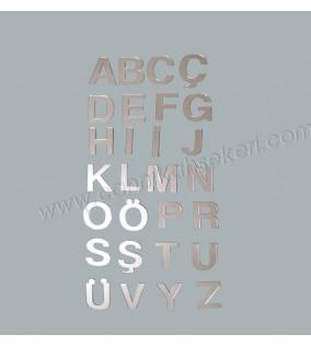 Ayna Harf Pleksi M Harfi 4 Cm 10'lu