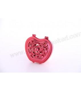 Ayna Kapaklı Kalpli Model Kırmızı