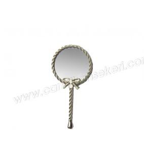 Ayna Kelebekli Burgulu Gümüş