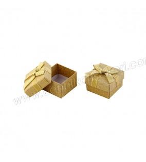 Karton Kutu Altın Floklu Yaldızlı