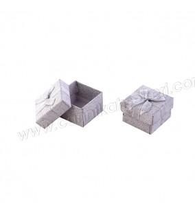 Karton Kutu Floklu Gümüş Yaldızlı