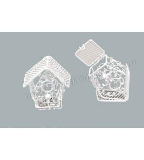 Kuş Kafesi Ev Modeli Beyaz