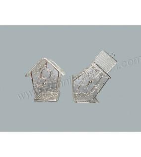 Kuş Kafesi Ev Modeli Gümüş