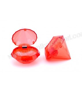 Kutu Elmas Modeli Kırmızı
