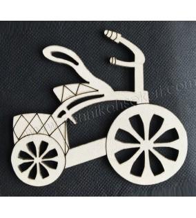 Lazer Kesim Ahşap Bisiklet 3mm 10'lu
