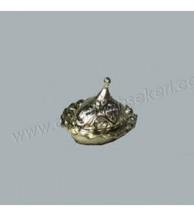 Lokumluk Oval Fırfırlı Altın