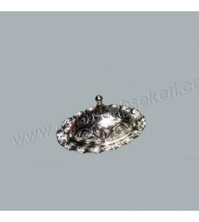 Lokumluk Oval Fırfırlı Gümüş
