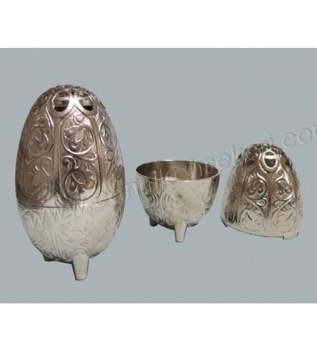 Metal Yumurta Lokumluk Gümüş