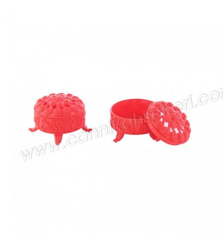 Plastik Ayaklı Kutu Büyük Boy Kırmızı