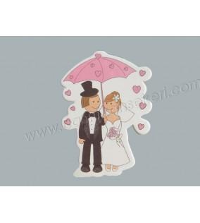 Sticker Gelin Damat Şemsiye Altında 50'li