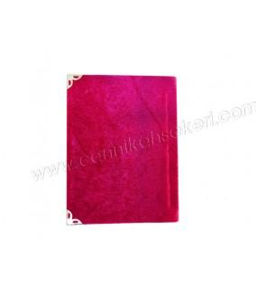 Yasin Kitap Orta Boy 10*14 Cm Fuşya Renkli