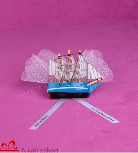 Ahşap Gemi Nikah Şekeri AH2