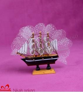 Ahşap Gemi Nikah Şekeri AH4