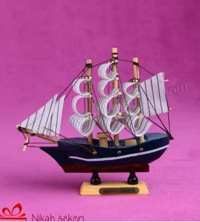 Ahşap Büyük Gemi Nikah Şekeri AH7