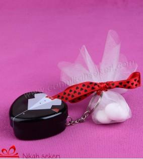 Kalp Damat Anahtarlık Nikah Şekeri