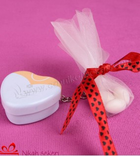 Kalp Gelin Anahtarlık Nikah Şekeri