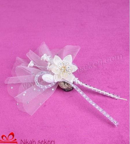 Kristal Çiçekli Nikah Şekeri CC1