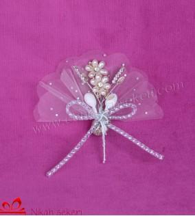 Kristal Çiçekli Nikah Şekeri CC2