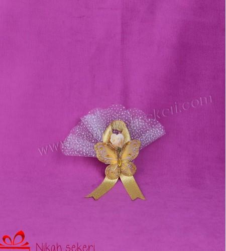 Sarı Kelebek Nikah Şekeri KL2