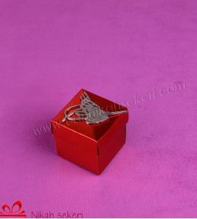 Tuğralı Kırmızı Kutu Nikah Şekeri KT30