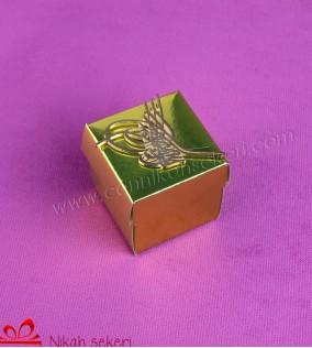 Tuğralı Sarı Kutu Nikah Şekeri KT33