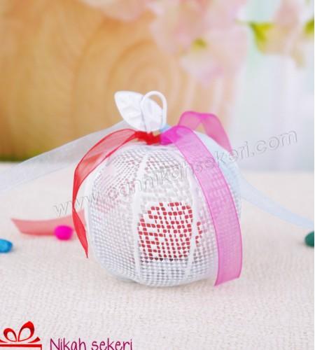 Beyaz Elma Nikah Şekeri A01