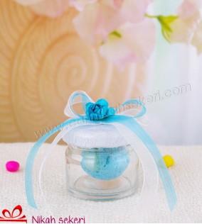 Çiçek Topu Cam Kavanoz A09