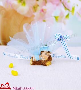 Çiçek Topu Erkek Bebek Şekeri